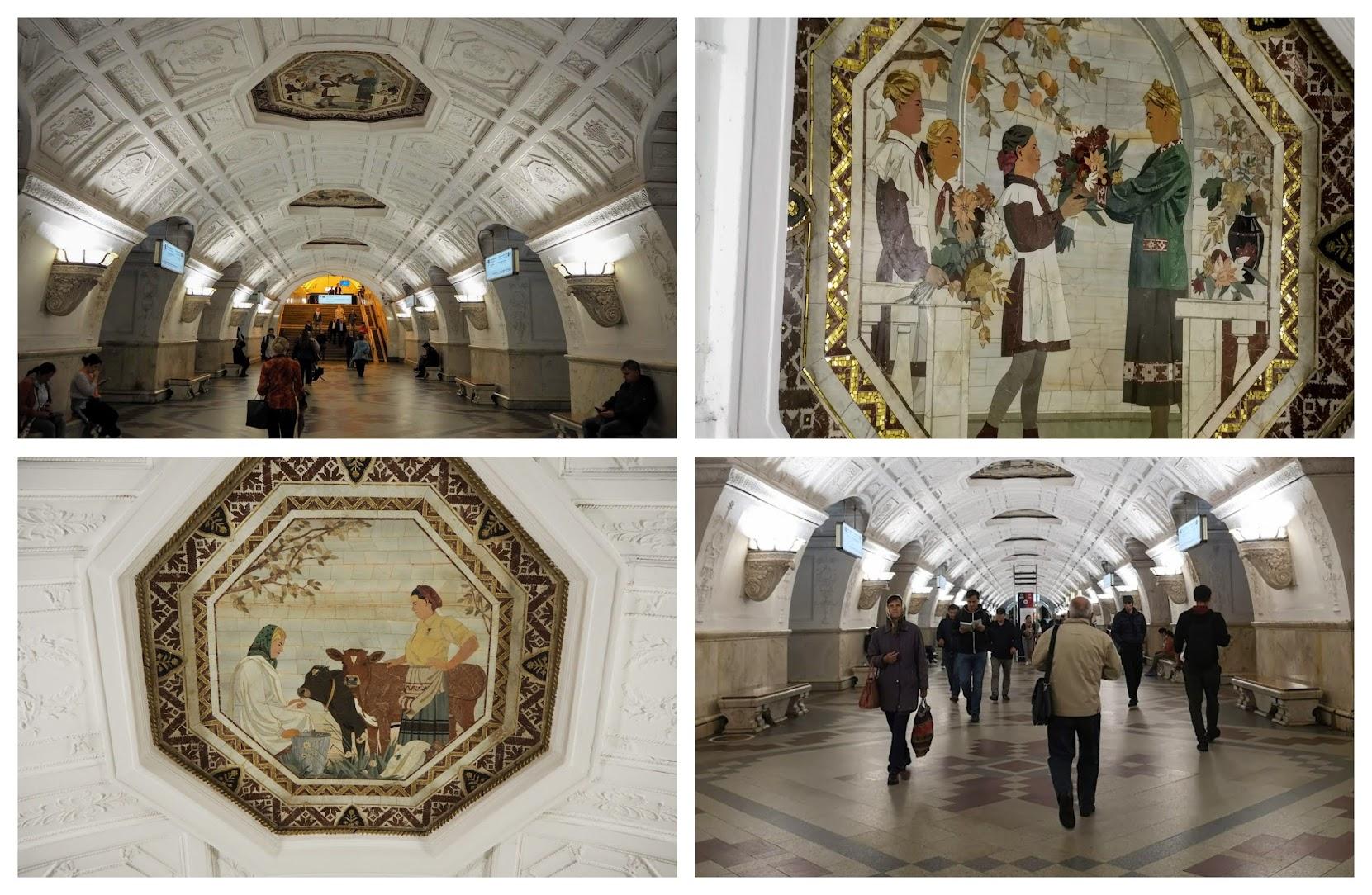 Belorusskaya estaciones de metro más bonitas de Moscú