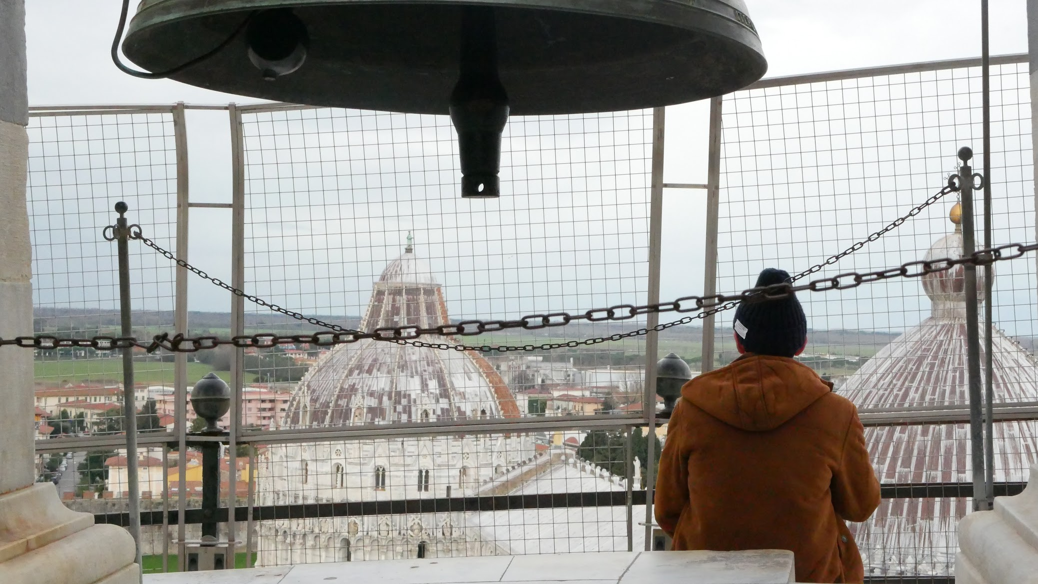 ピサの斜塔の頂上