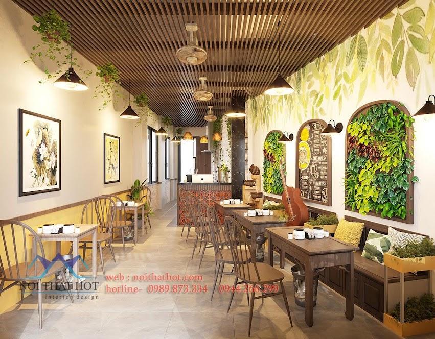 thiết kế quán cafe 30m2