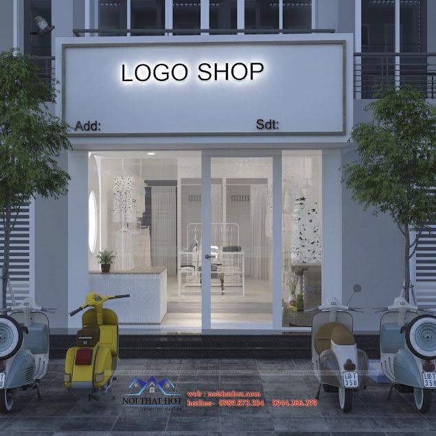 thiết kế mặt tiền shop quần áo