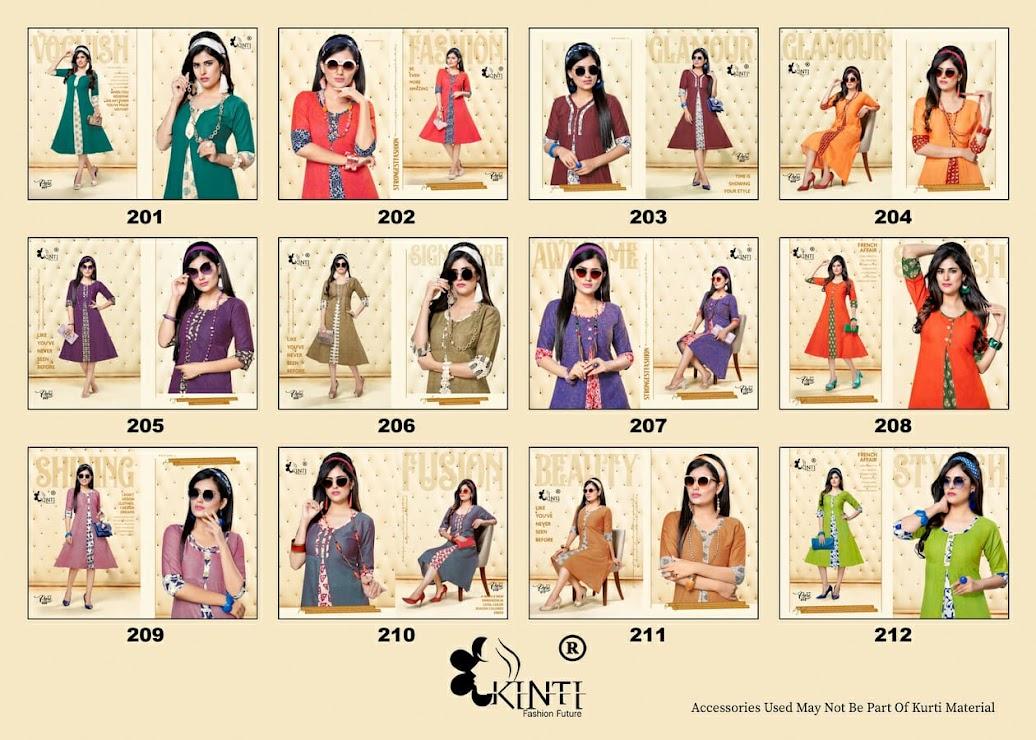 Pari Vol 2 Kinti Branded A-Line Kurti Manufacturer Wholesaler