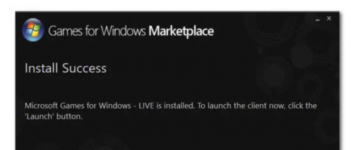 Games for Windows Marketplace install success