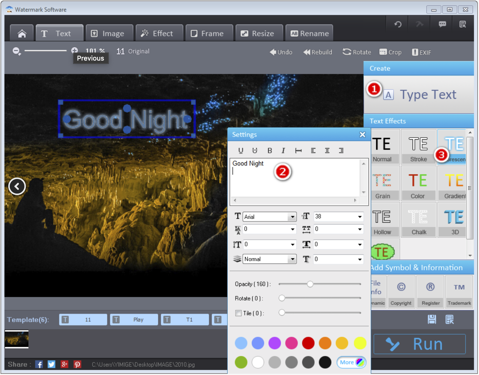 Free Giveaway Photo Watermark Software v8.2 Registration Code - Add text Watermark