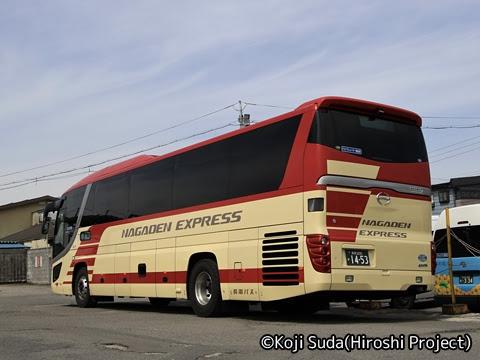 長電バス「ナガデンエクスプレス」大阪線 1453 リア