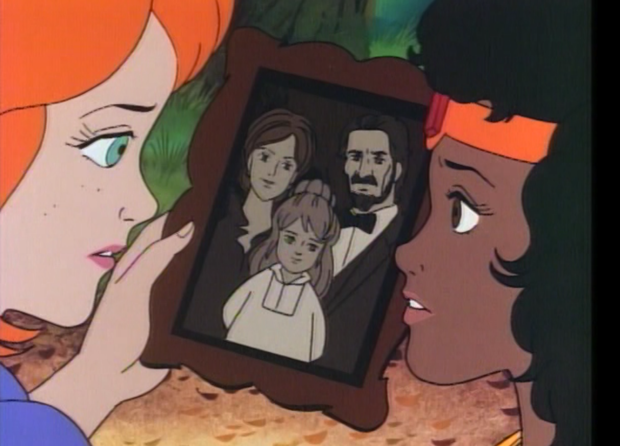 Diana and Sheila with a picture of Martha's family