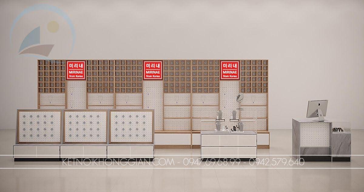 thiết kế gian hàng trung tâm thương mại