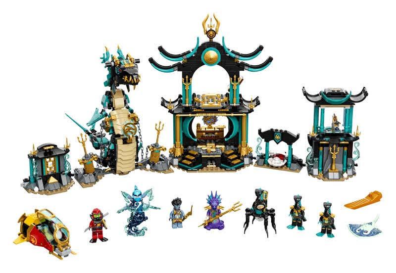 Contenido de LEGO® 71755 Templo del Mar Infinito