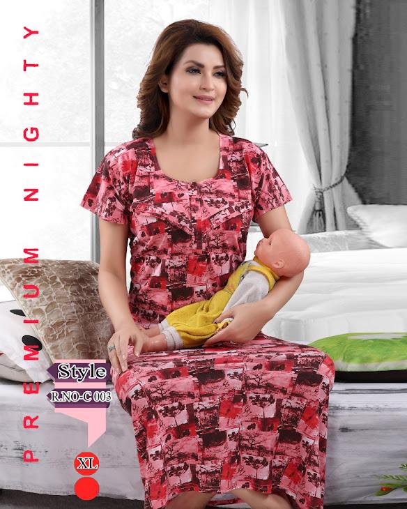 Vol 214 Kavyansika Maternity Nighty Manufacturer Wholesaler