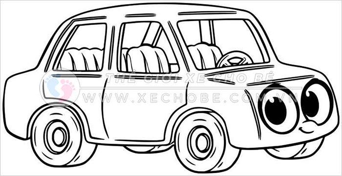 tranh tô màu xe ô tô cho bé 33
