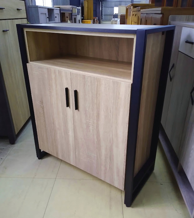 663-58  沅芷 原切橡木色2.7尺鞋櫃 / 4尺鞋櫃 / 灰橡色
