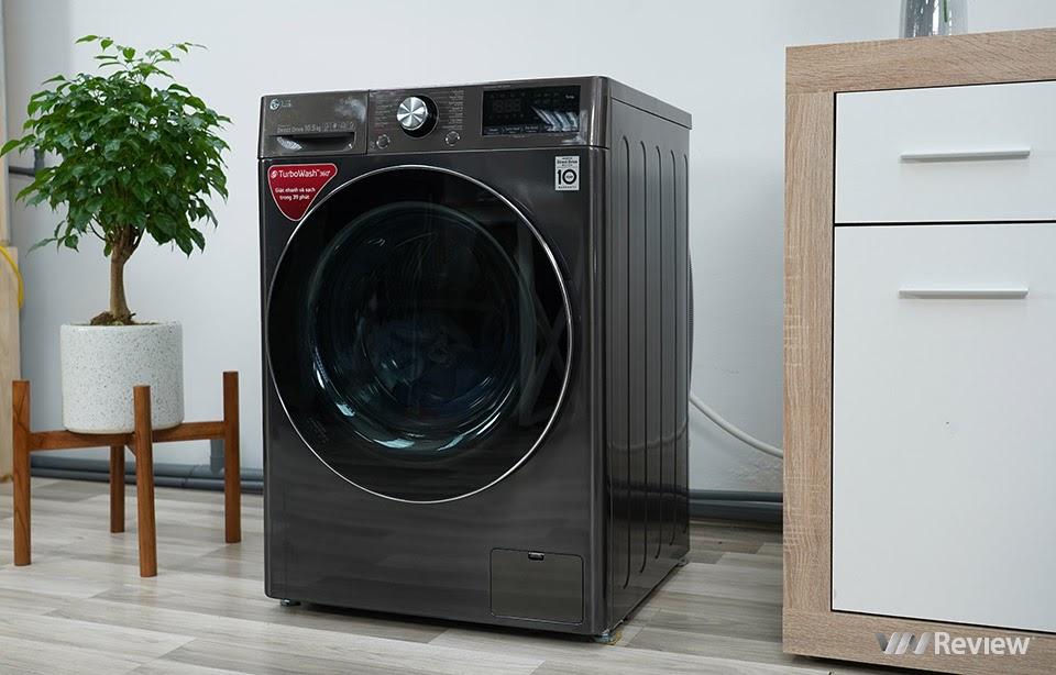 máy giặt LG AI DD FV1450S2B được tích hợp AI