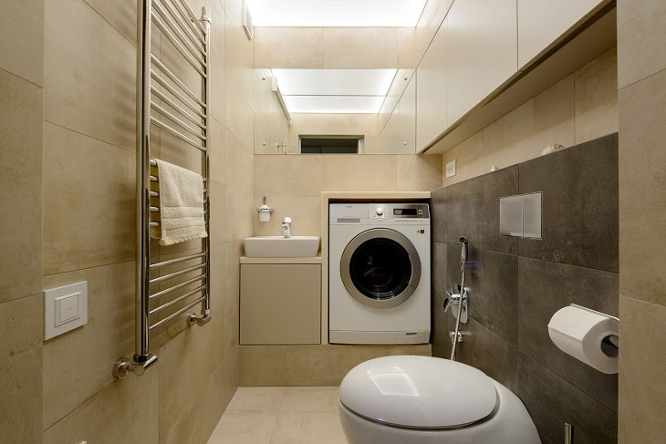 Không nên đặt máy giặt trong nhà tắm