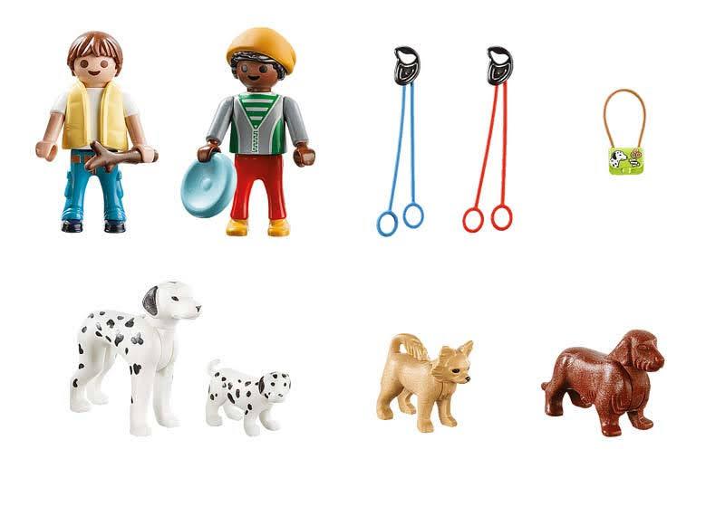 Contenido Real de Playmobil® 70530 Maletín Paseo con Perros