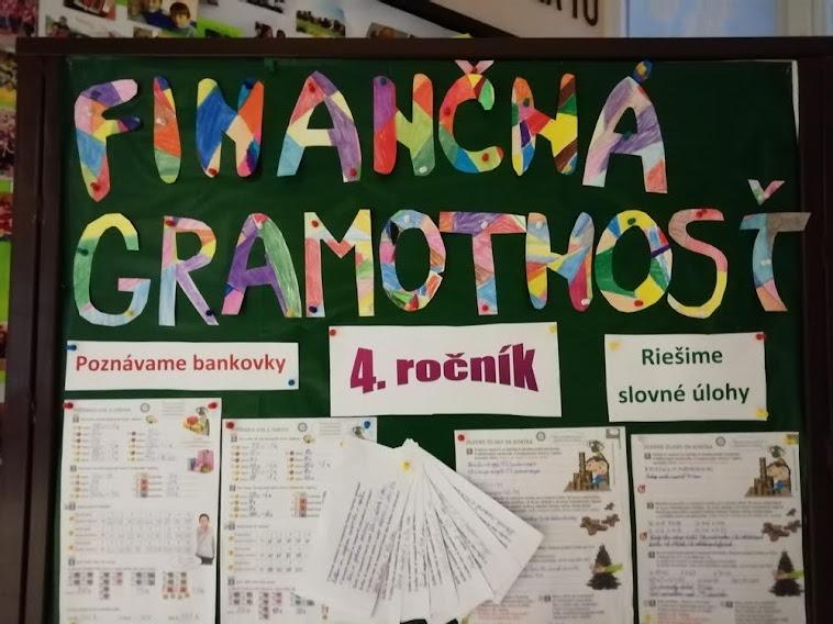 Finančná gramotnosť očami štvrtákov
