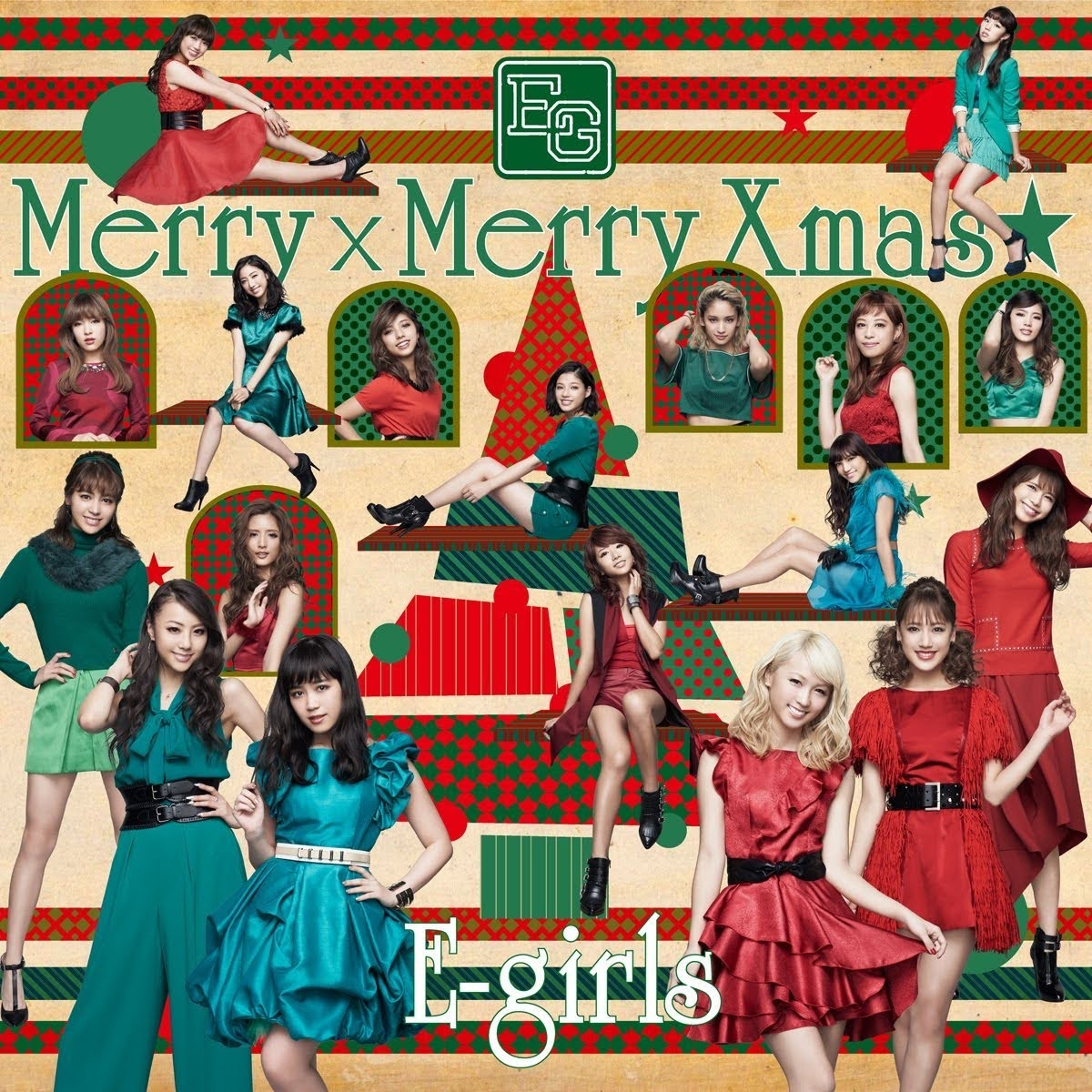 "Capa do single ""Merry × Merry Xmas★"" – CD+DVD Edition."