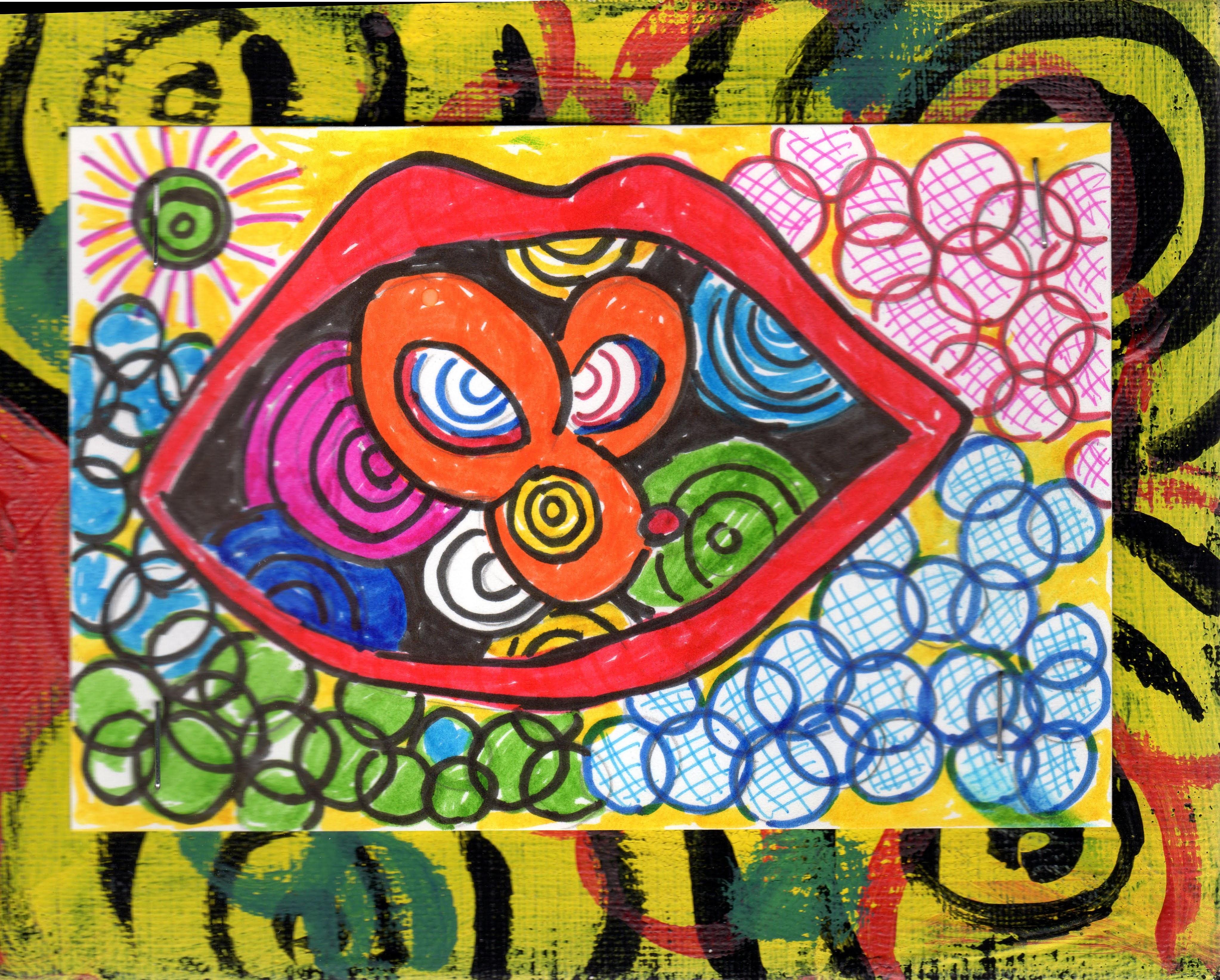 [mouse in a mouth] - Ito, Yoko's art work   [口の中のネズミ] - 伊藤洋子の美術