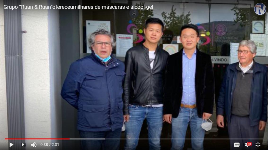 "Vídeo - Grupo ""Ruan & Ruan"" ofereceu milhares de máscaras e álcool-gel"