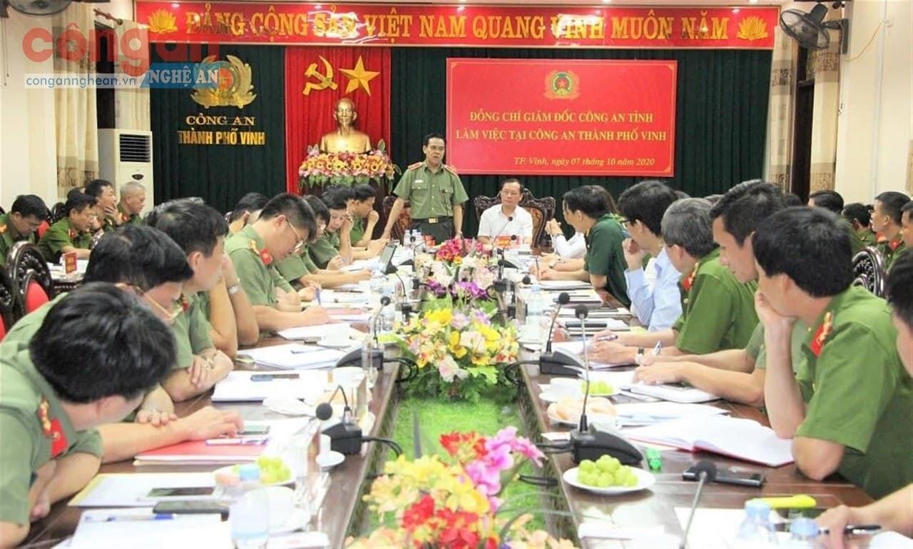 Đồng chí Thiếu tướng Võ Trọng Hải, Uỷ viên Ban Thường vụ Tỉnh uỷ, Giám đốc Công an tỉnh chỉ đạo Công an các đơn vị, địa phương tiếp tục đẩy mạnh cải cách hành chính