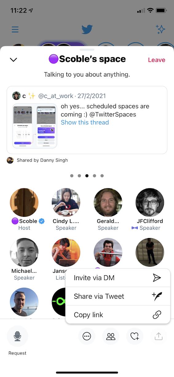在Twitter Spaces分享Tweet
