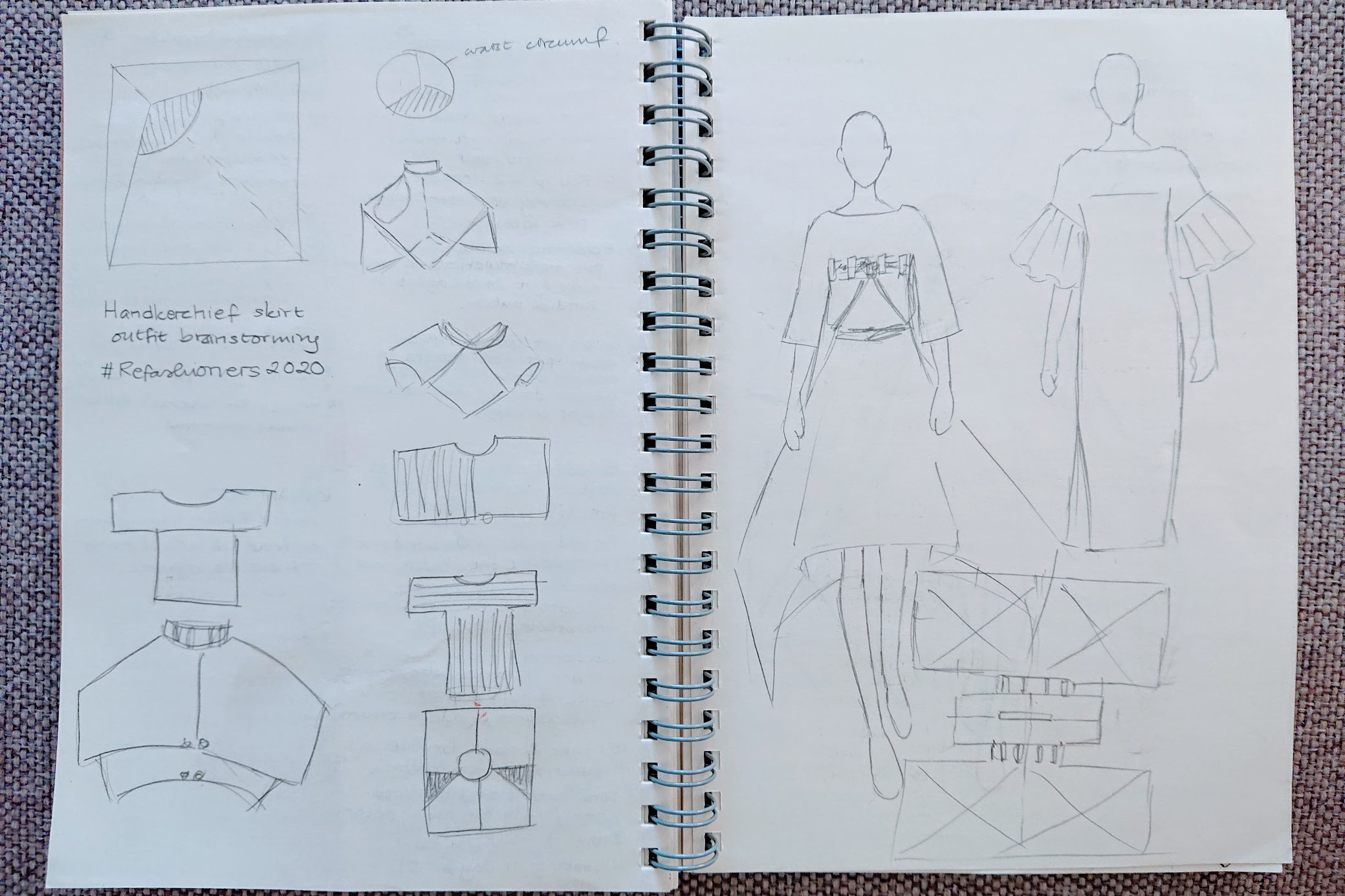 Sketching it out - Handkerchief Dress | FAFAFOOM.COM