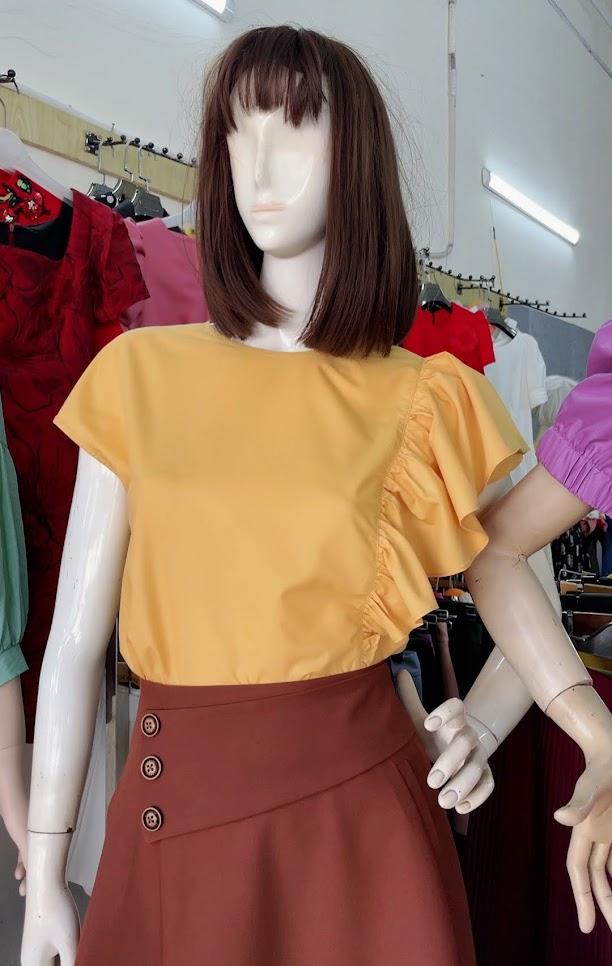 Review chất vải áo sơ mi nữ chân váy xòe công sở và dạo phố V761 thời trang thủy đà nẵng