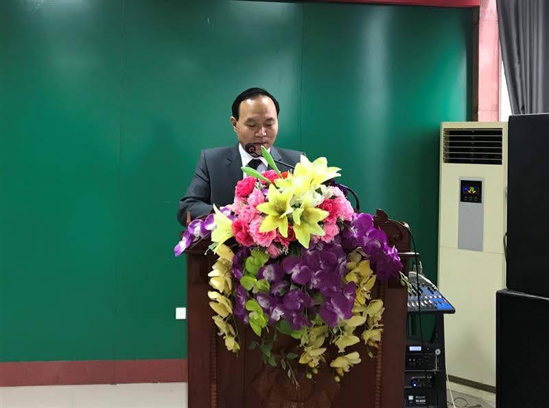 Đồng chí Vương Hồng Thái, Phó Chủ tịch UBND huyện Nam Đàn phát biểu tại buổi lễ
