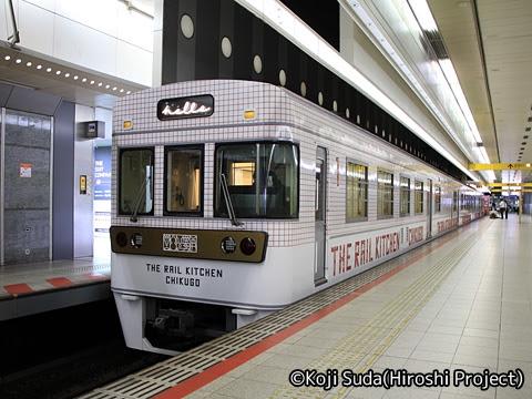 西鉄 6050形改造「THE RAIL KITCHEN CHIKUGO」 福岡(天神)にて_01