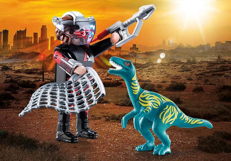 Contenido de Playmobil® 70693 DuoPack Velociraptor y Saqueador