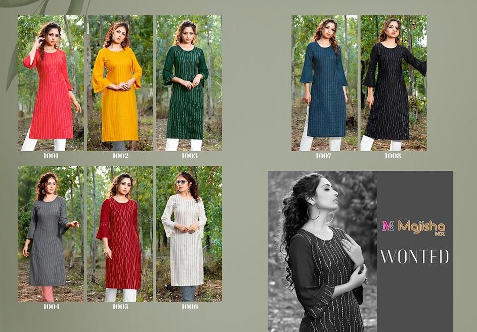 Majisha Nx Wonted Kurtis Pant Set Catalog Lowest Price