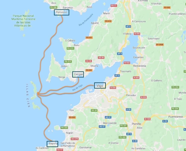 cómo llegar a las Islas Cies