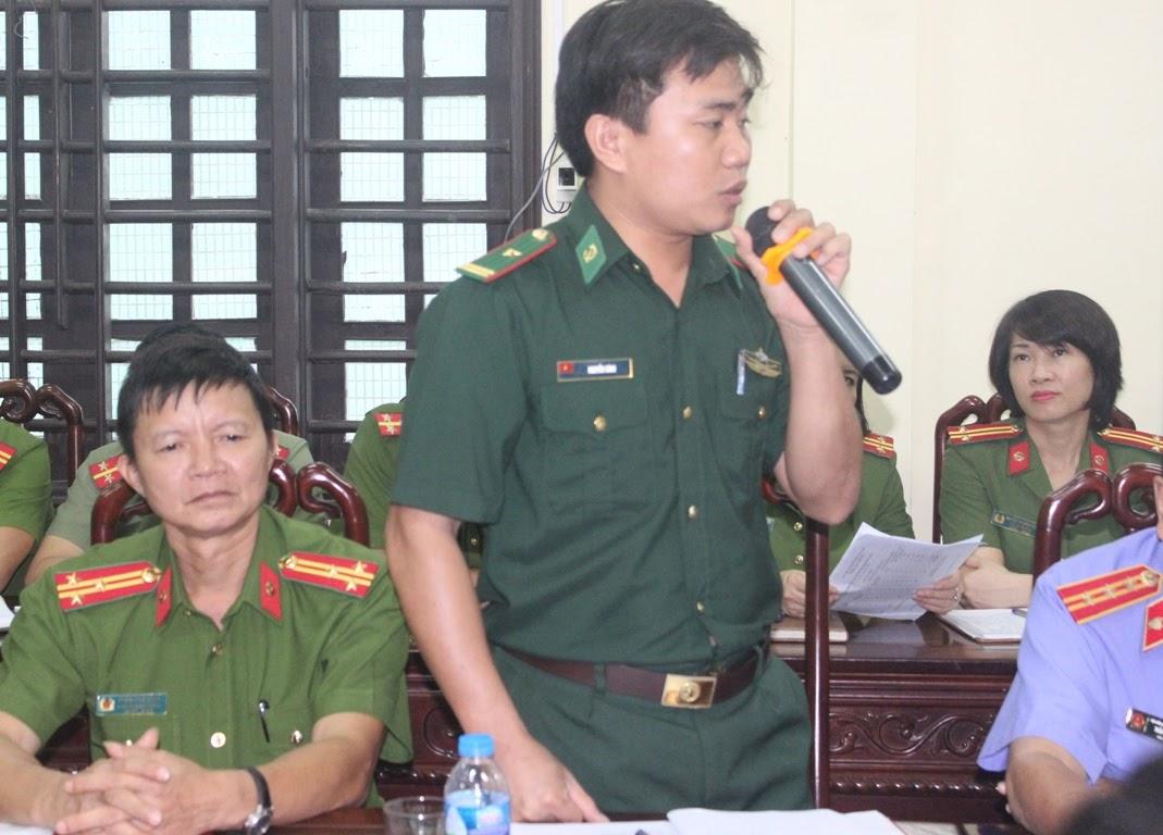 Đồn trưởng Đồn Biên phòng Cửa khẩu cảng Cửa Lò – Bến Thủy đánh giá cao sự phối hợp chặt chẽ, hiệu quả giữa 2 lực lượng Công an – Biên phòng