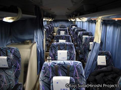 千曲バス「千曲川ライナー」 1411 車内
