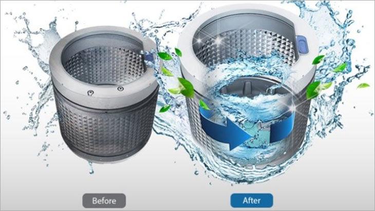máy giặt Panasonic Inveter FD125V1BV có tính năng tự vệ sinh lồng giặt