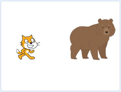 Scratch 3.0: Thêm nhân vật Gấu xám