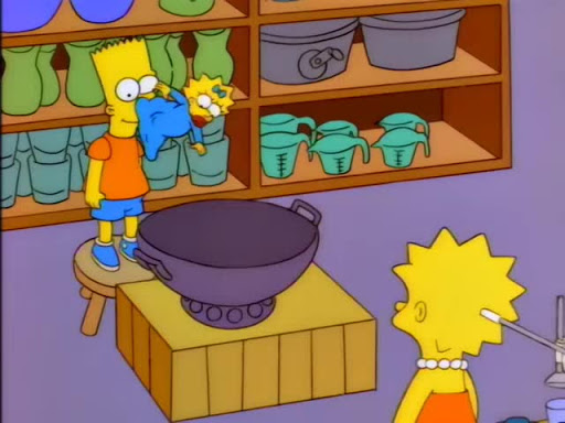 Los Simpsons 8x06 Milhouse dividido