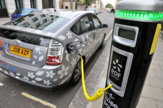 Electric charging points for local supermarket store