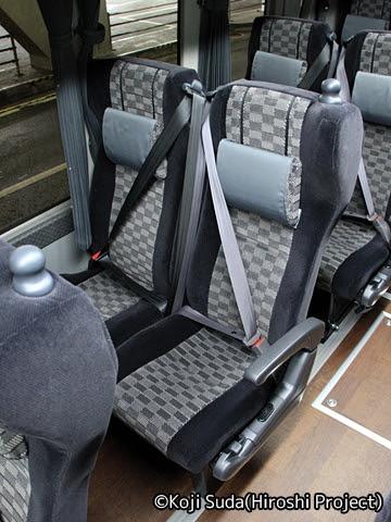 名鉄バス 「名神ハイウェイバス京都線」 3906 シート