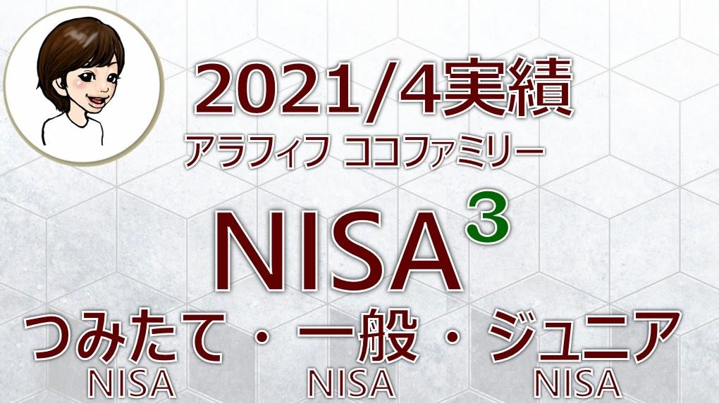 アラフィフ主婦ココファミリーの楽天証券のNISA口座2021年4月度実績