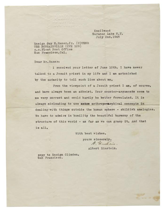 List od Alberta Einsteina