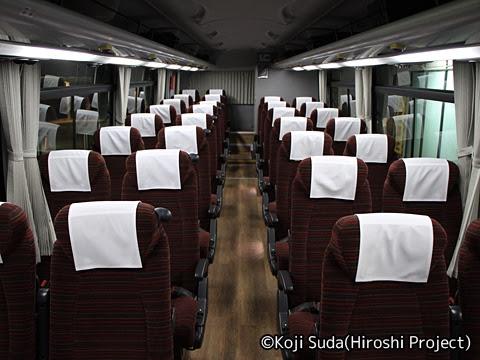 西鉄「桜島号」 1336 車内