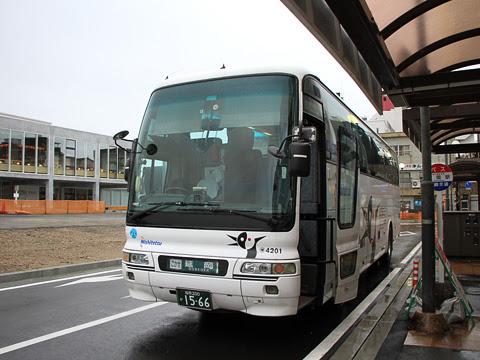 西鉄「ごかせ号」 4201 延岡駅到着