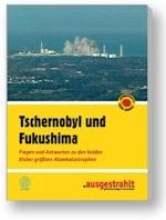 Broschüre, Titelseite «Tschernobyl und Fukushima».