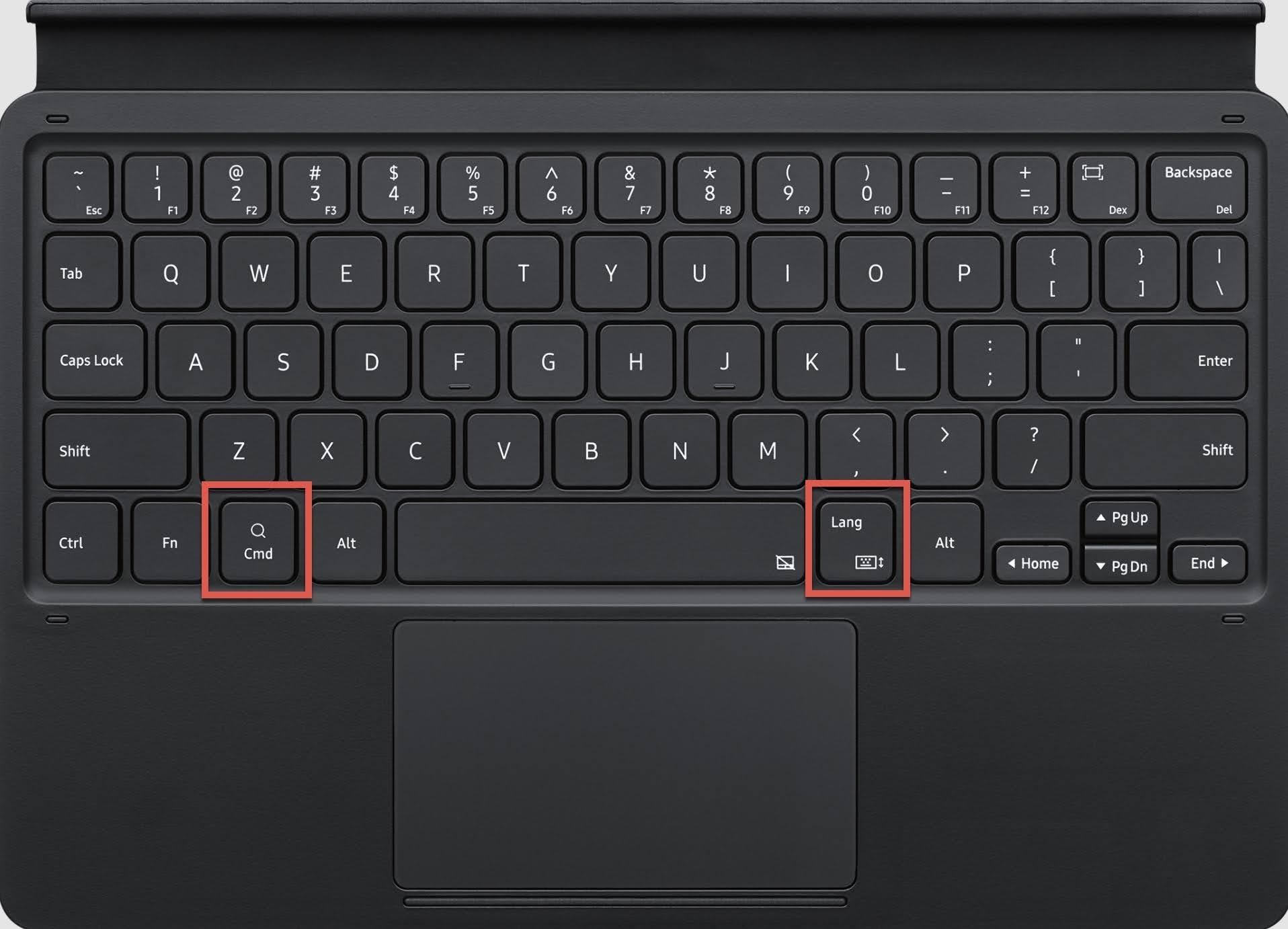Press the cmd (command) + Lang (Language) keys together.