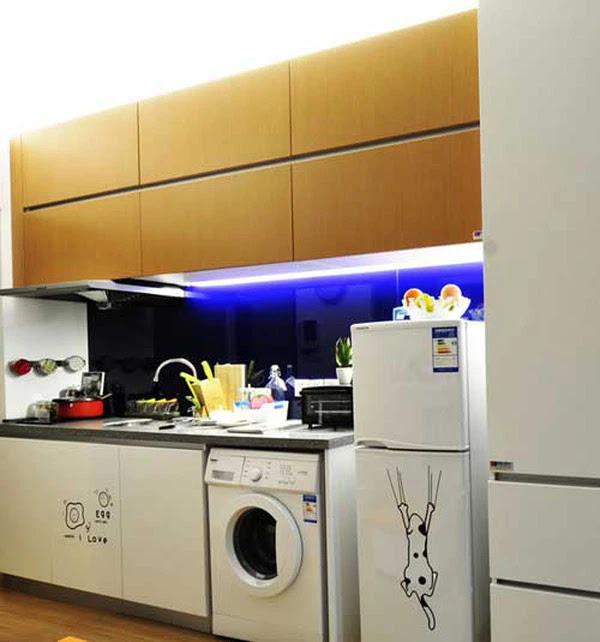 khu vực bếp nấu là vị trí không nên đặt máy giặt