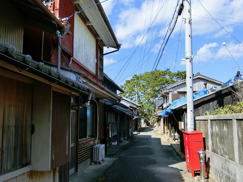 出羽島の町並み
