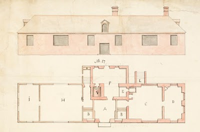 Чертеж Дома Петра I в Таллине. 1753