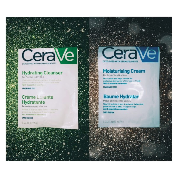 CeraVe products: moisturizing cream and hydrating cleanser review