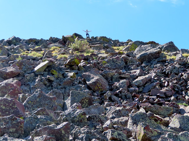 Chris atop Hilgard Mountain