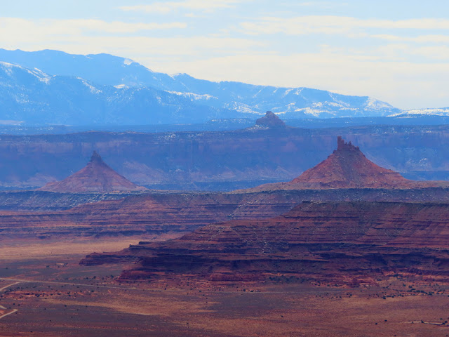 South and North Six-shooter Peaks viewed from the Needles Overlook