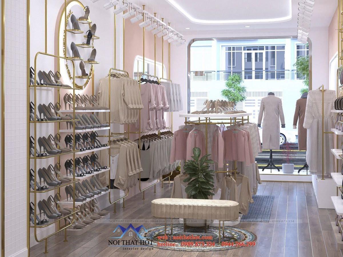 trang trí cửa hàng quần áo